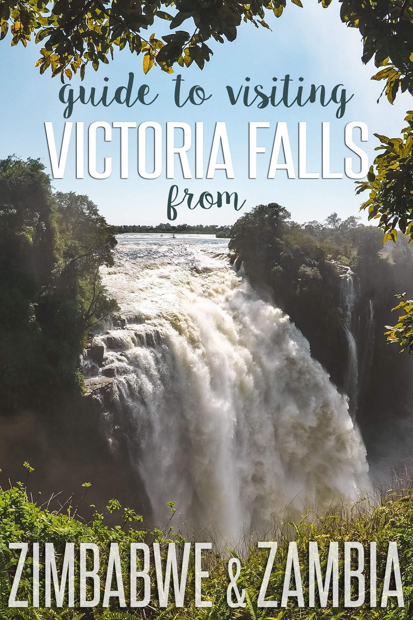 Visiting Victoria Falls from Zimbabwe and Zambia