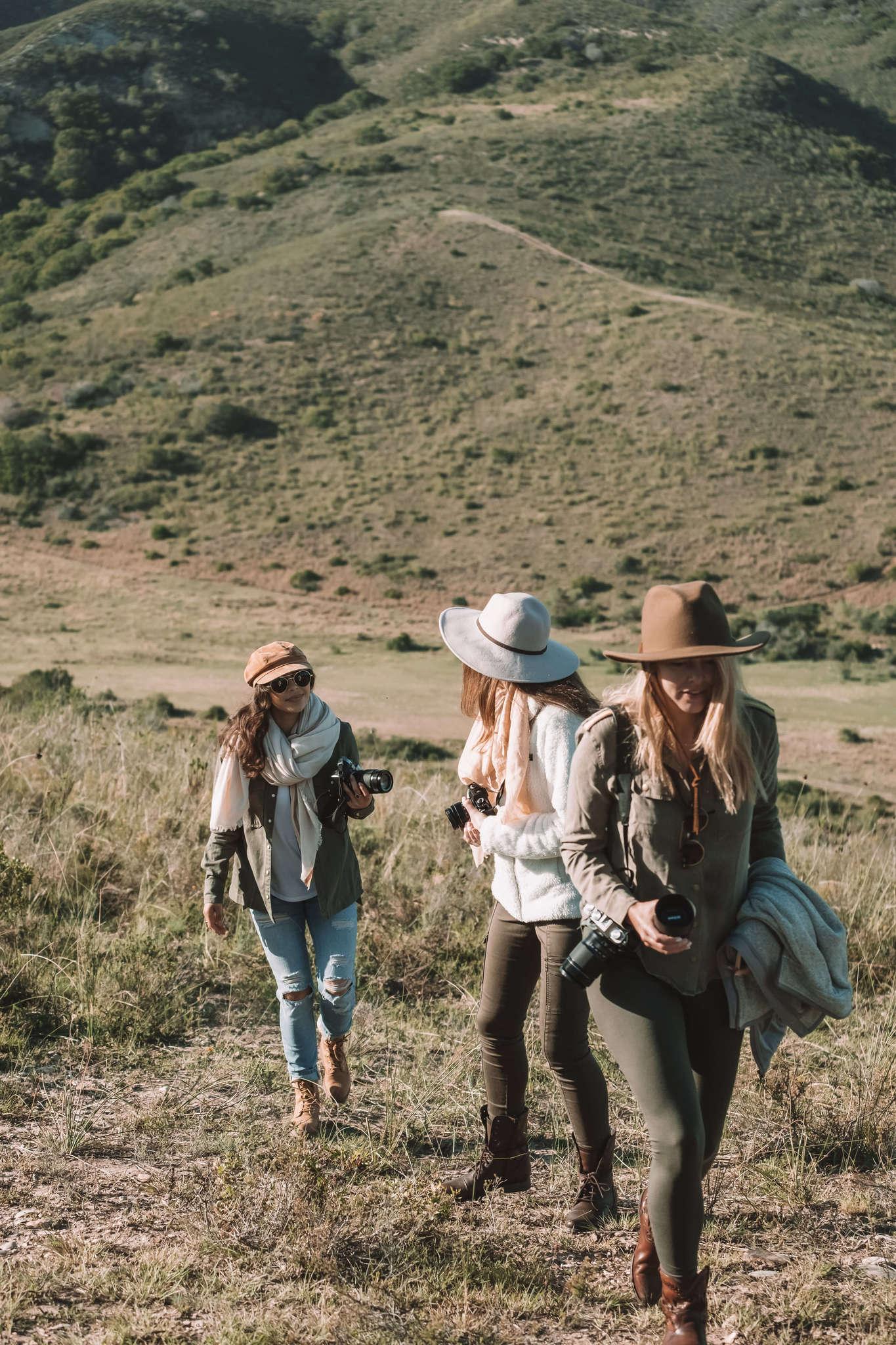 girls shooting safari in South Africa