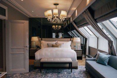 bedroom at Ritz Carlton Budapest