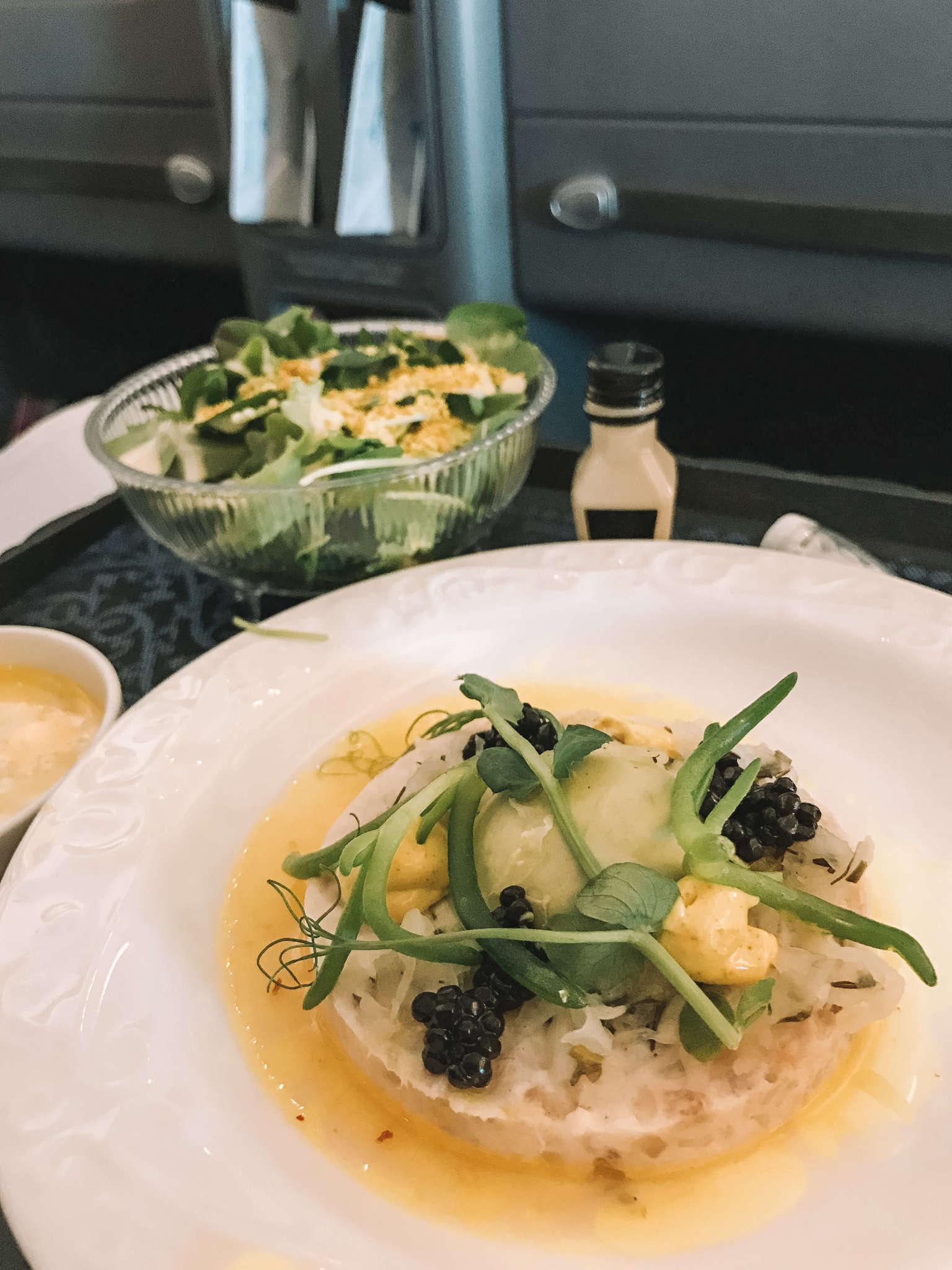 KLM Business Class Flight meal 2