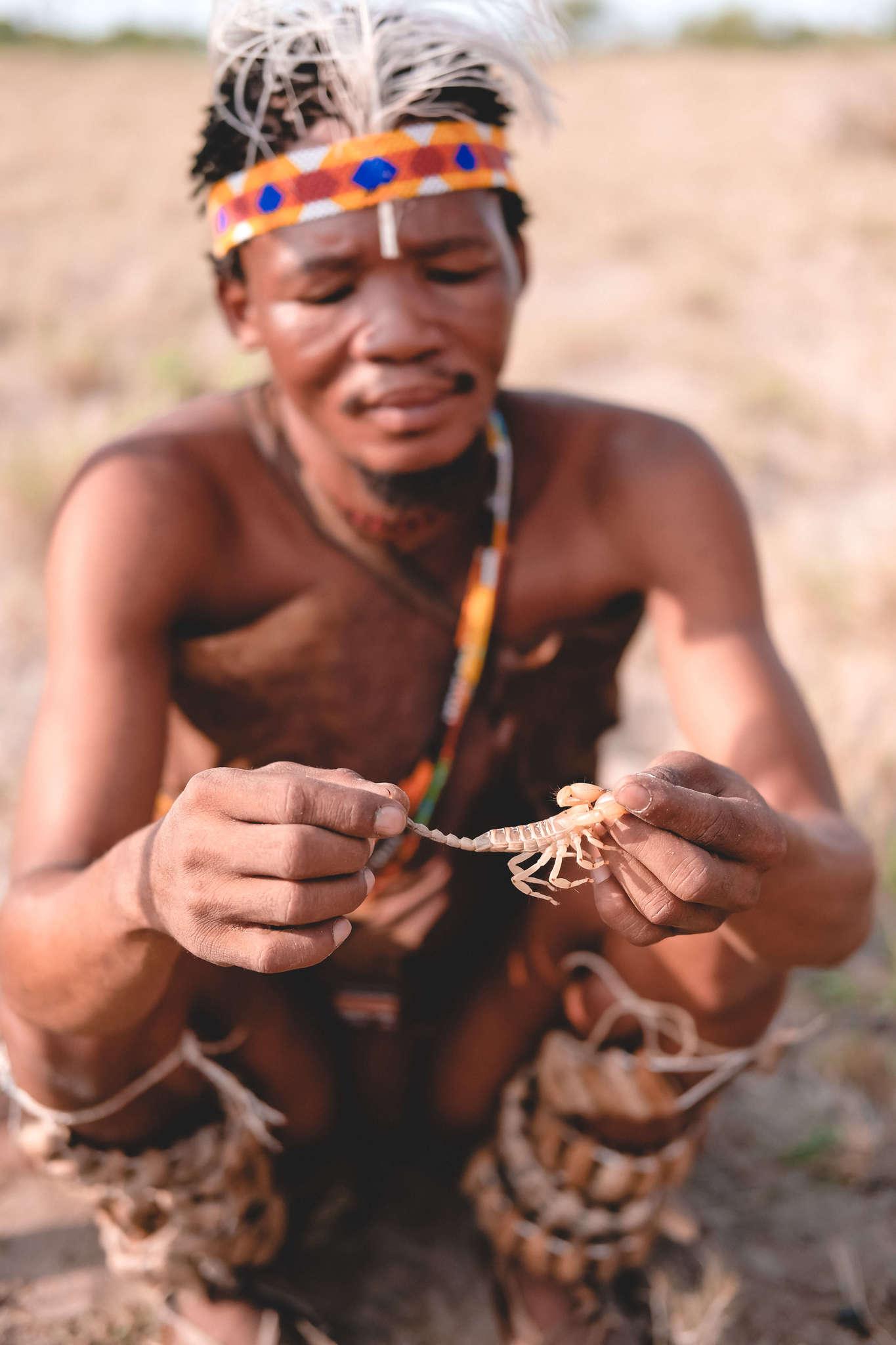Man in Botswana