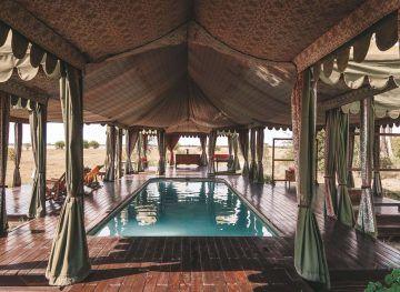 Pool in Jacks Camp in Botswana