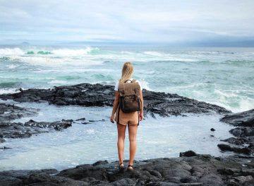 girl in galapagos