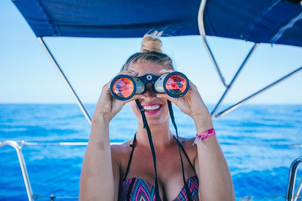 Blonde with Binoculars