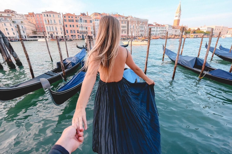 Blonde in Venice, Italy