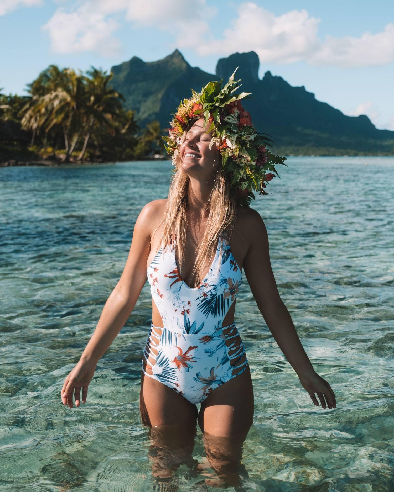 Flower Crown in Bora Bora