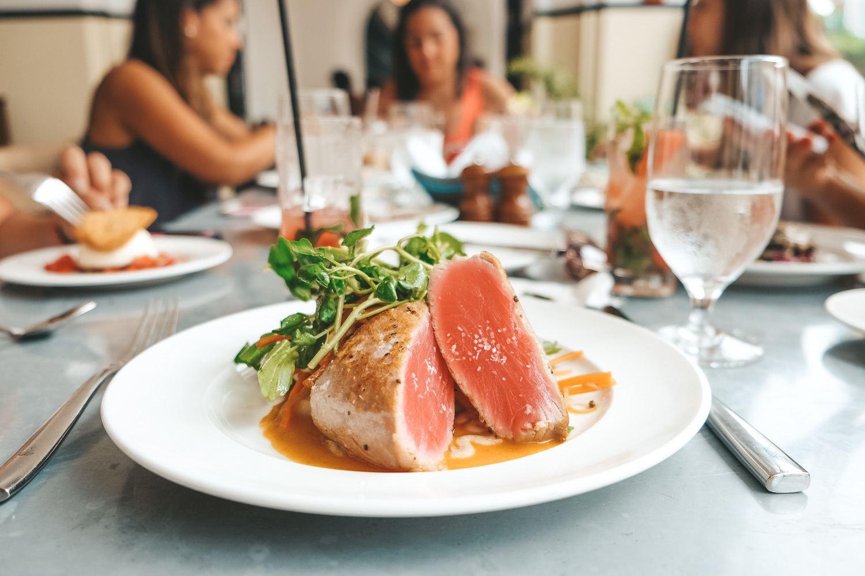 Seared Tuna Dish in Casco Viejo