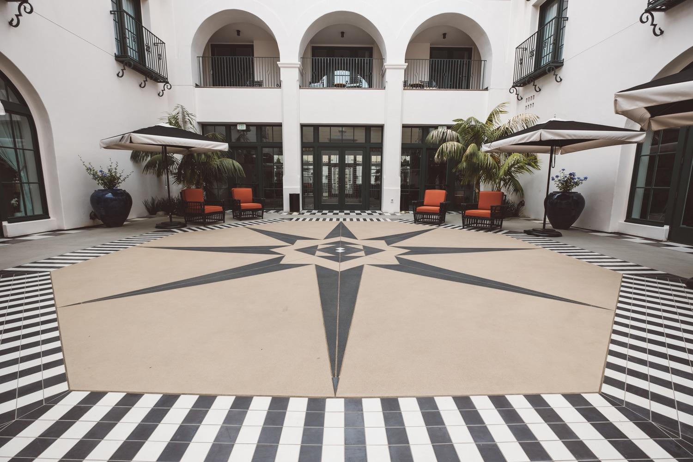 Courtyard at Hotel Californian