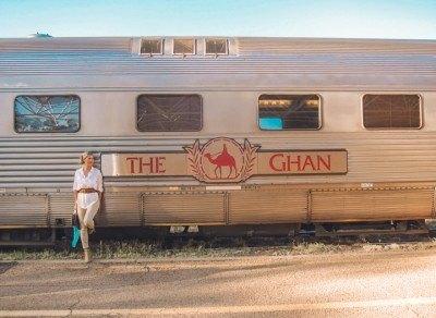 Blonde Riding Ghan Train