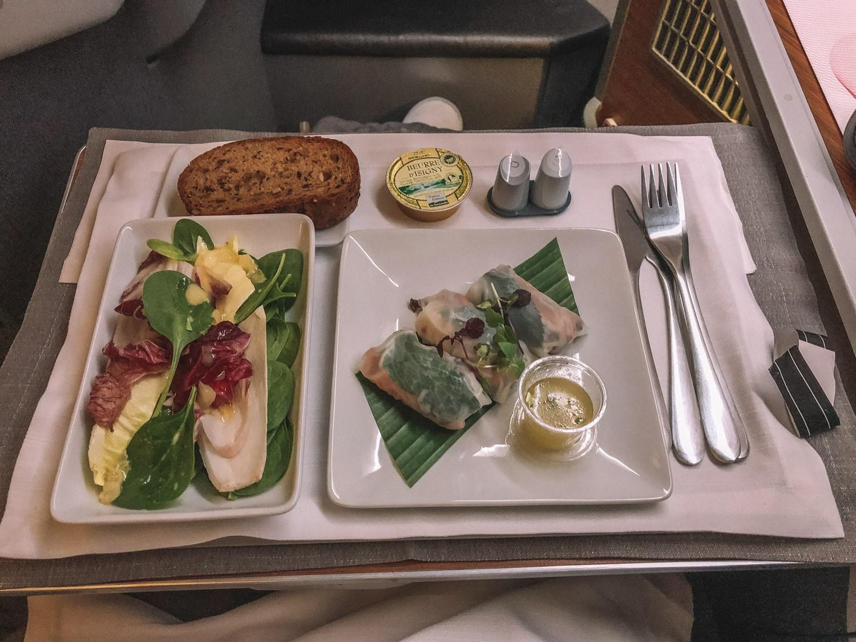 Food on Hong Kong Business Class