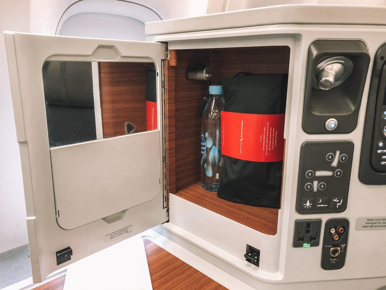 Storage on Hong Kong Business Class