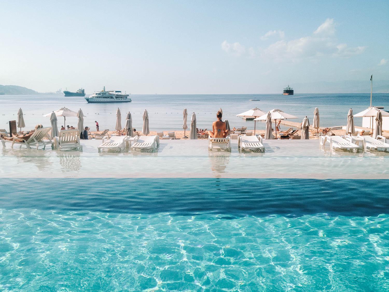 resort by the Red Sea in Jordan