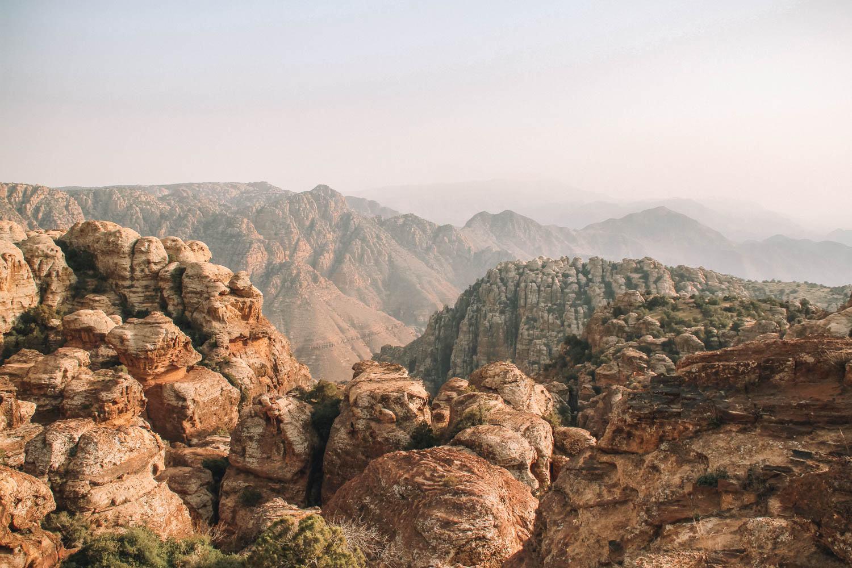 mountain in Dana Biosphere Reserve in jordan