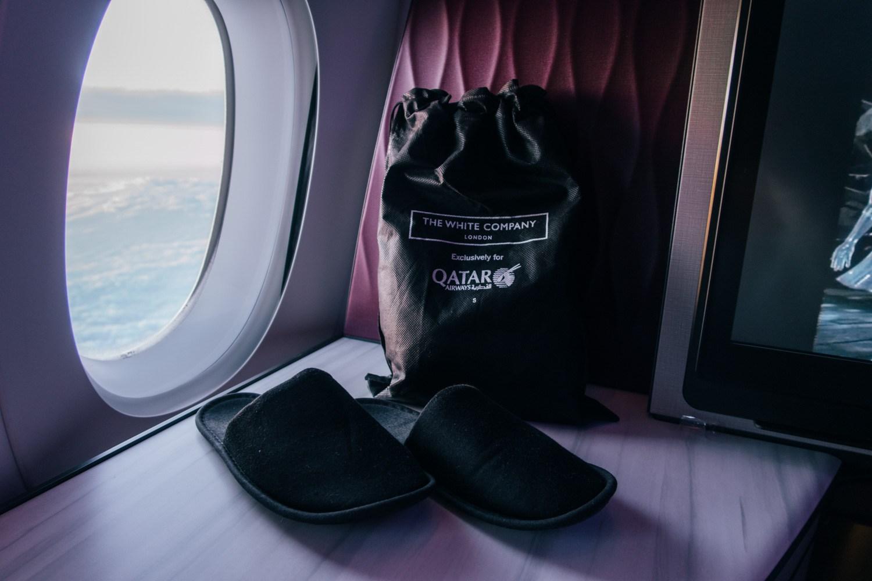 Qatar Airways Q Suites Business Class Amenities