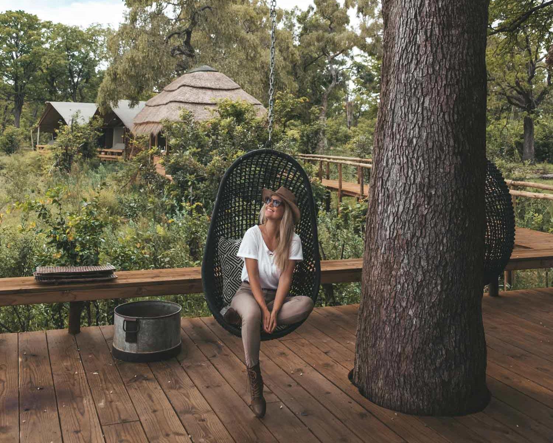 blonde in botswana