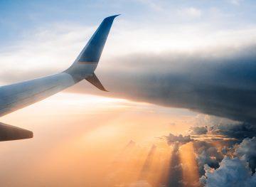 plane tail in sky