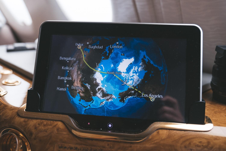 Dubai to LAX Emirates Route