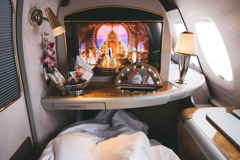 Emirates First Class Dubai to Lax