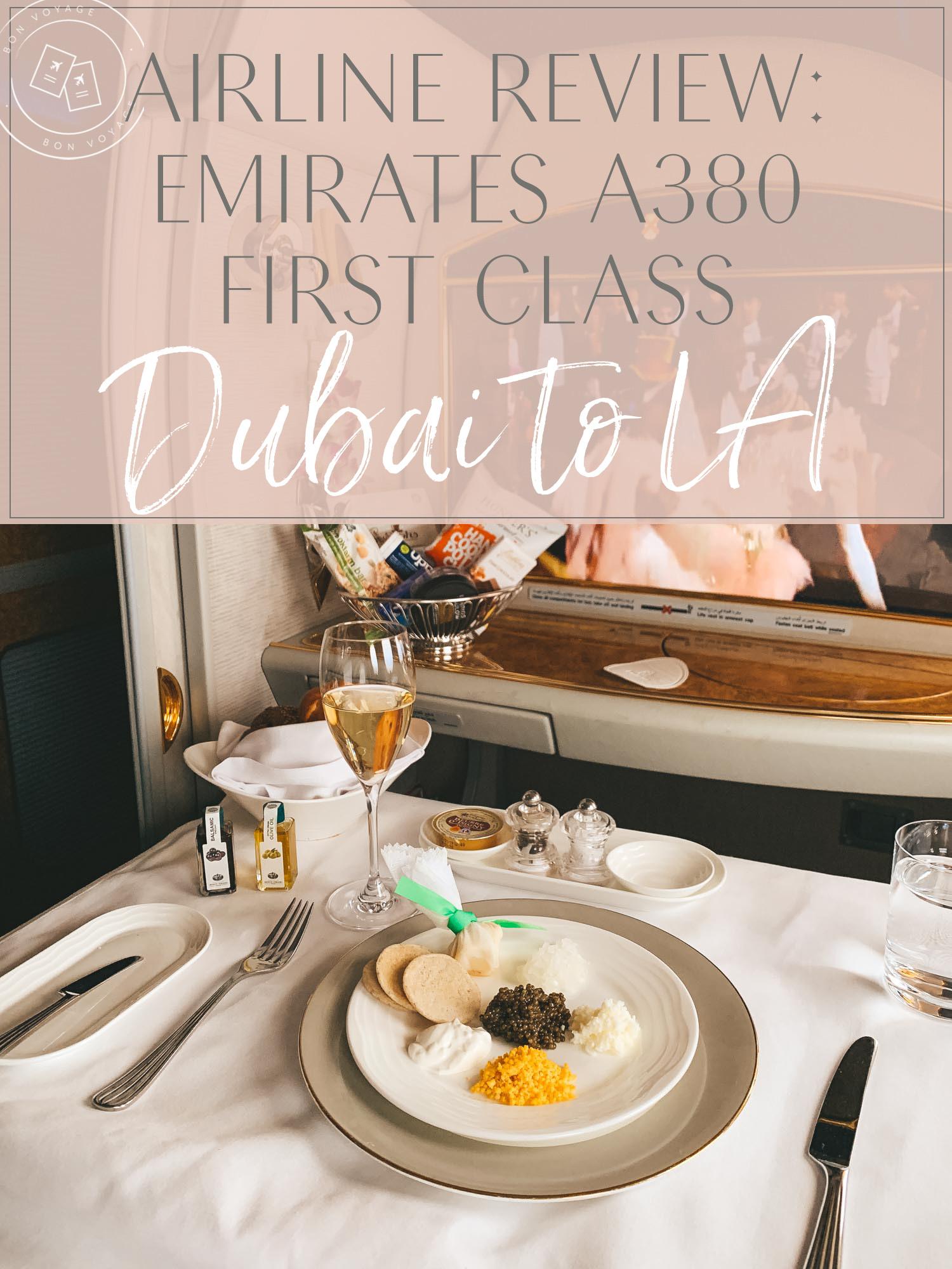 Dubai to LA Emirates Airline Review