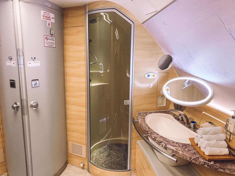 Emirates Dubai First Class Amenities Shower