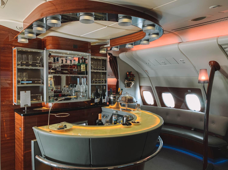 Emirates Dubai First Class Bar