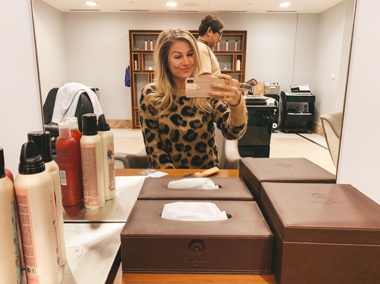 Emirates First Class Dubai Airline Lounge Spa Hair Treatment