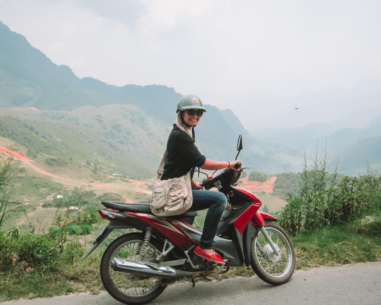 blonde in vietnam