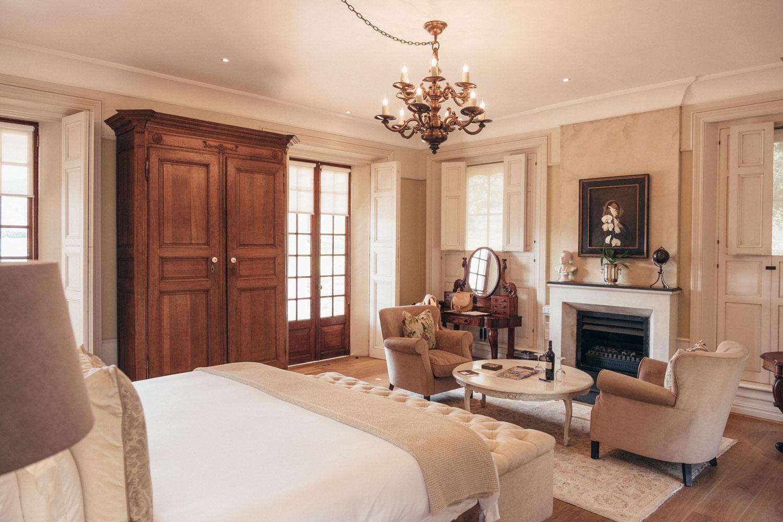 lanzerac wine estate suite room