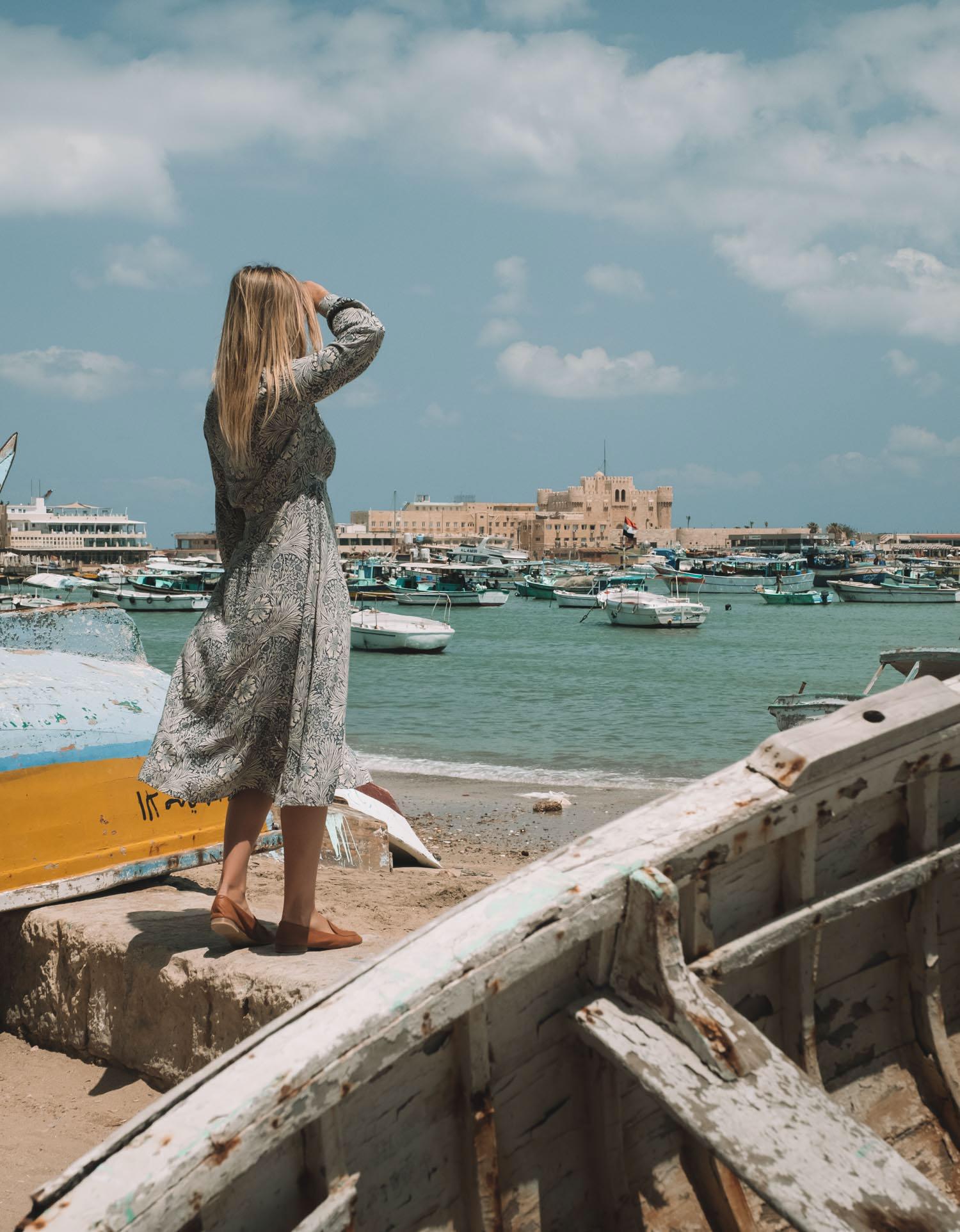 Egypt Travel Blonde Girl