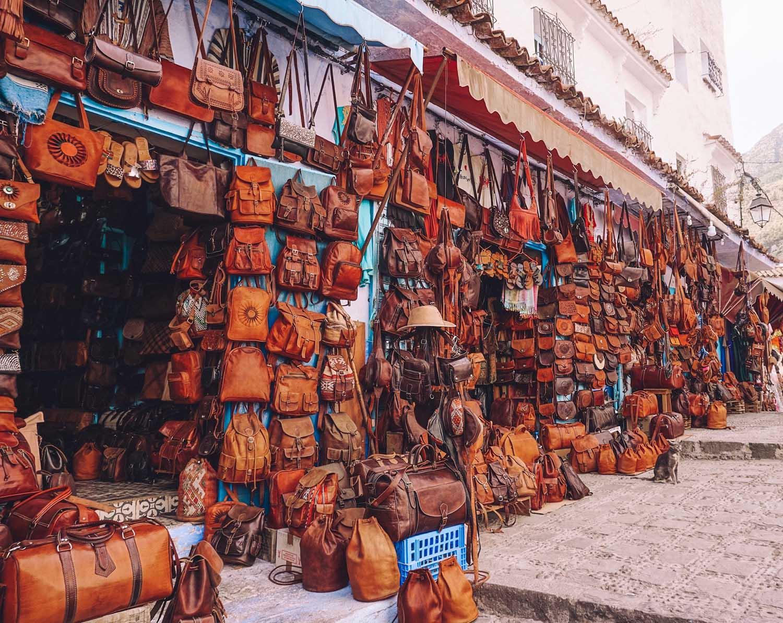 backpacks chefchaouen morocco