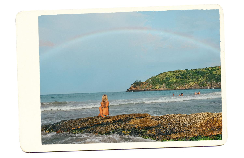 beach brazil rainbow