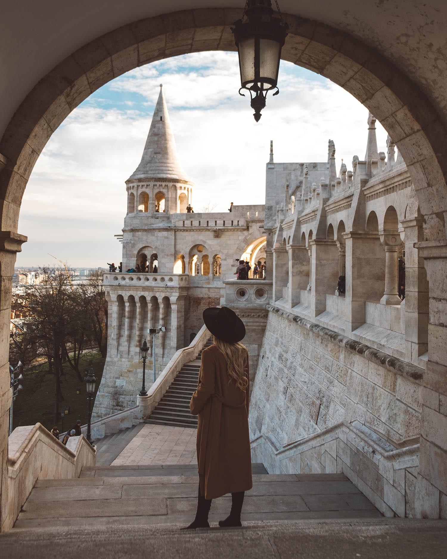 budapest castle travel girl