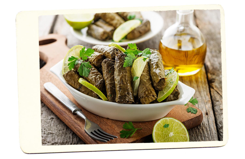 greek food leaves