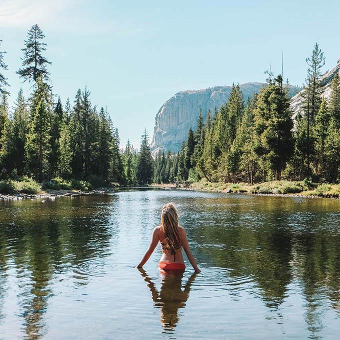 Yosemite Backcountry Hiking 11 Lake Swimsuit