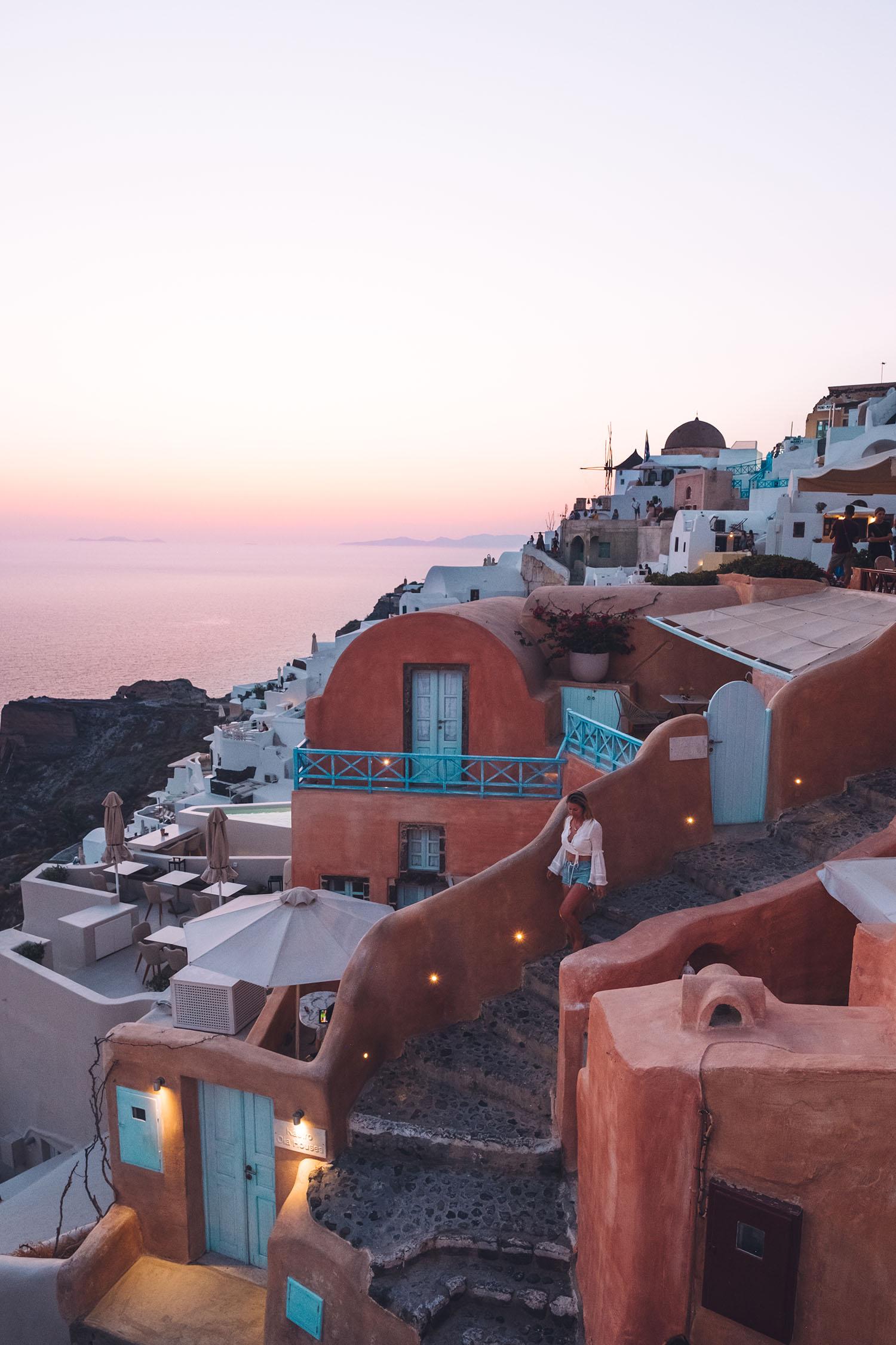 santorini Greece sunset