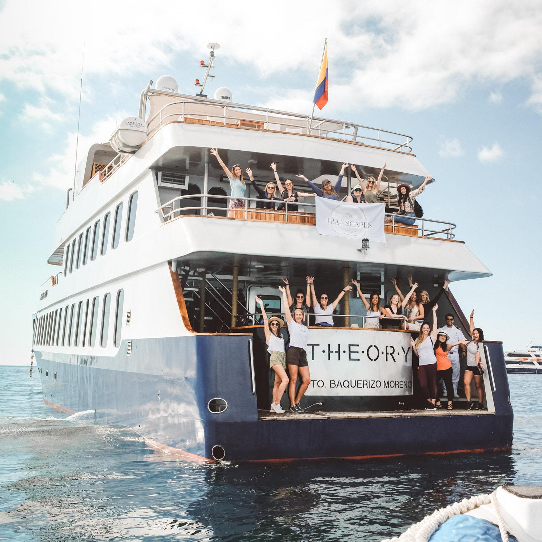 galapagos boat ladies