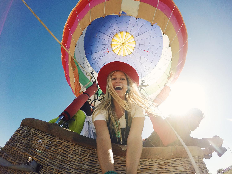 blonde hot air balloon