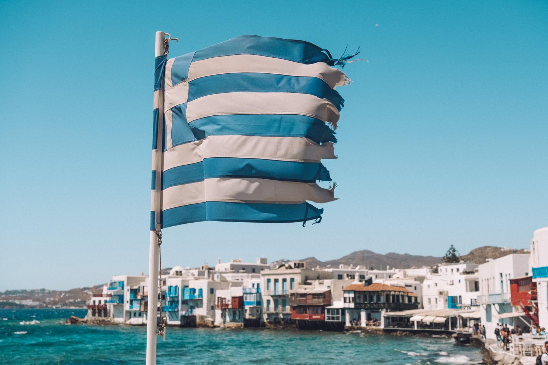 mykonos flag greece
