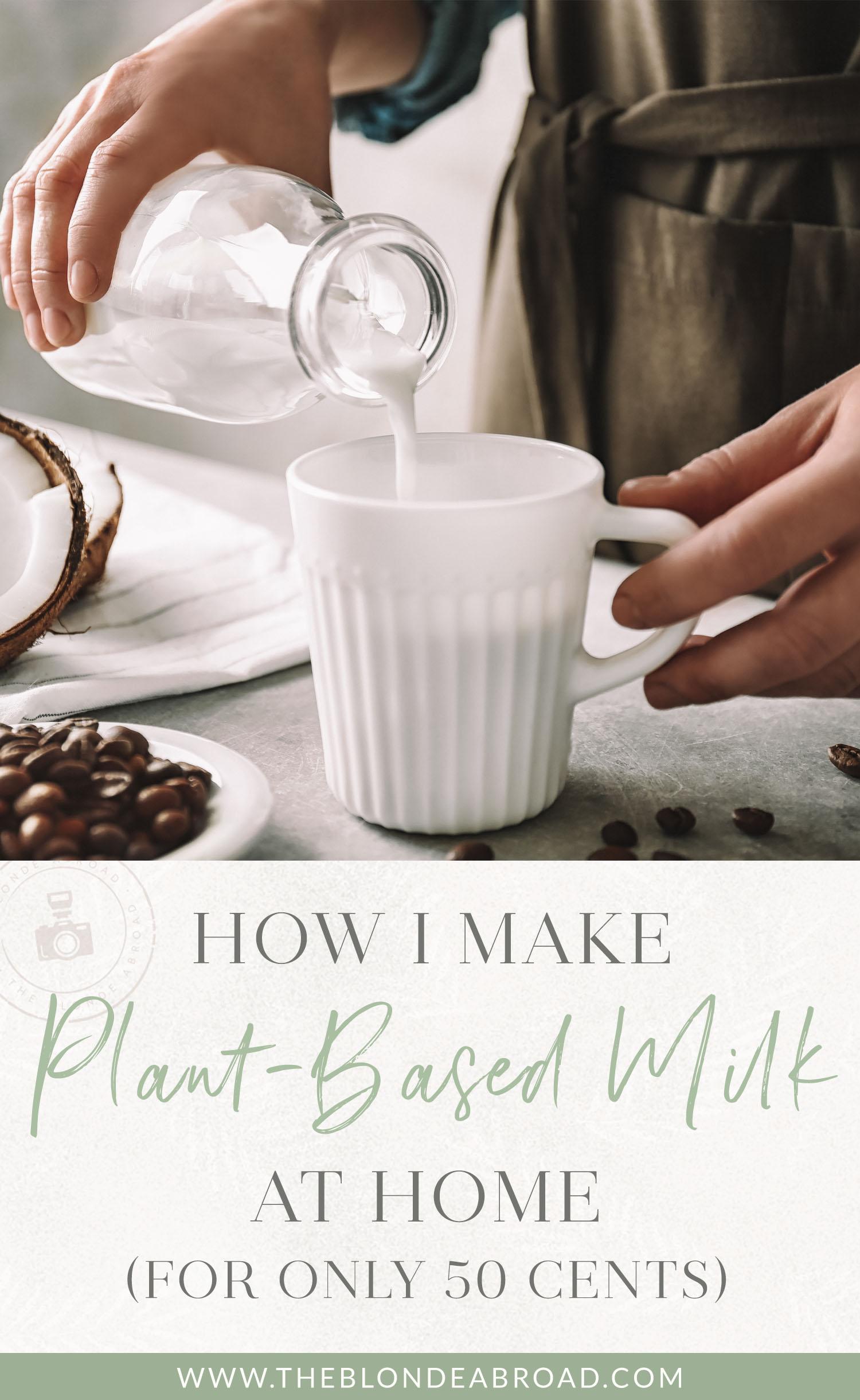comment je fais du lait à base de plantes à la maison