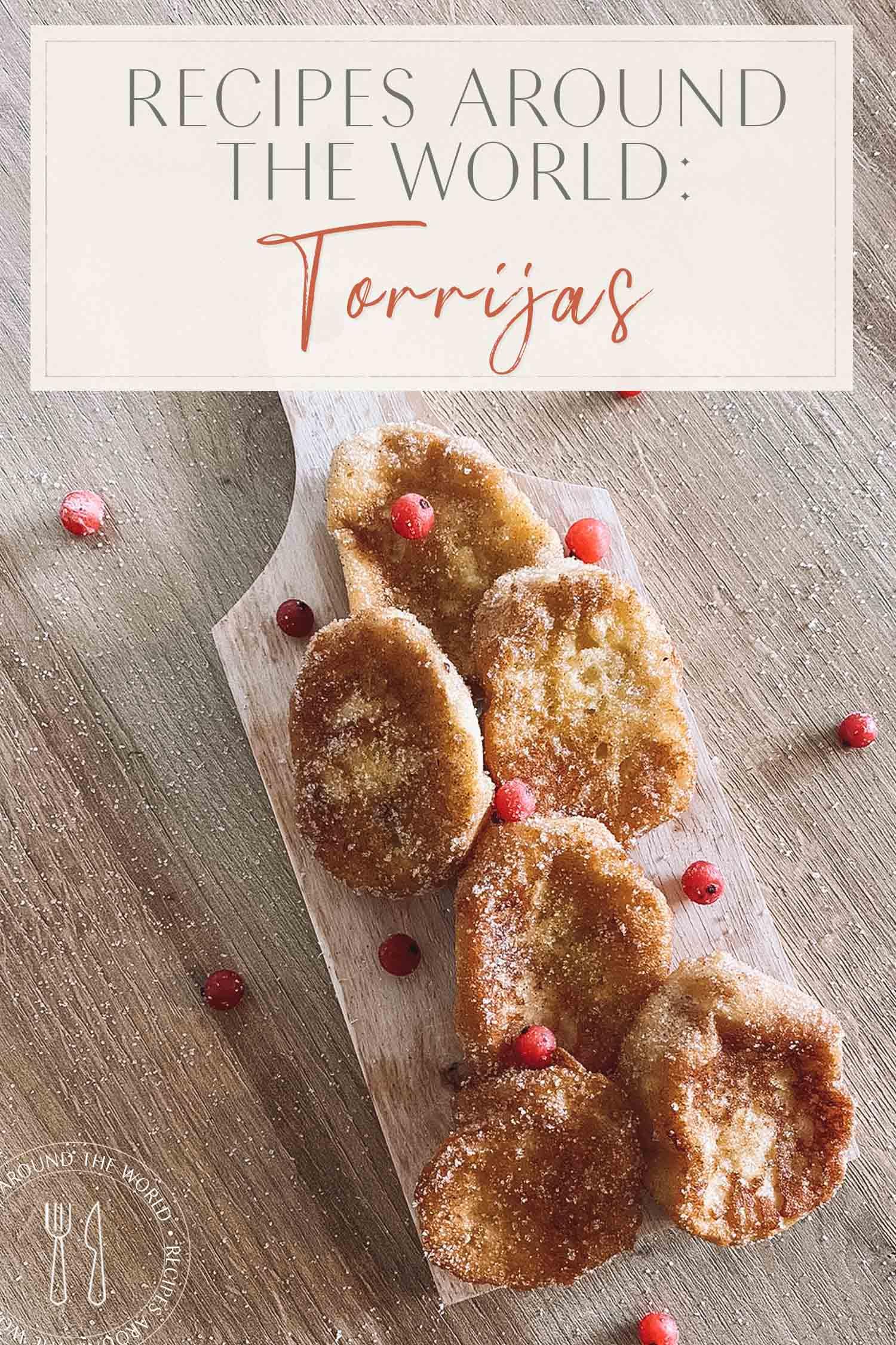 En-tête de recette Torrijas