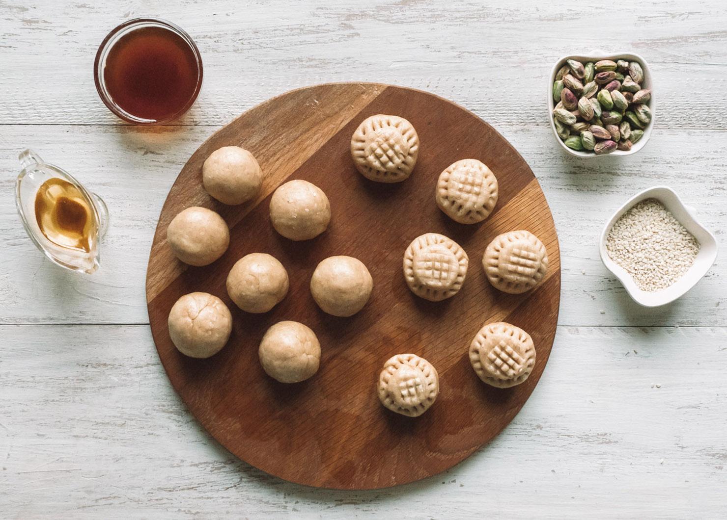 Biscoitos Kahk egípcios • A loira no exterior 6