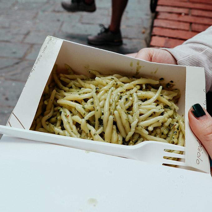 Pesto Pasta in Riomaggiore