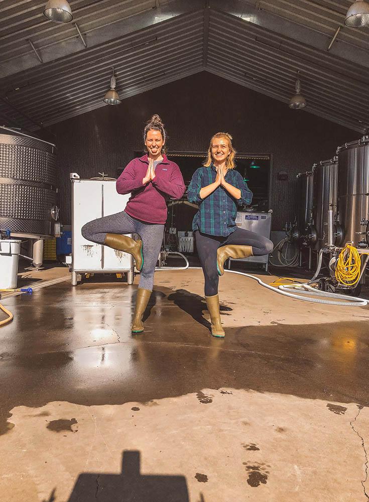 Fun in the Winery Tank Room