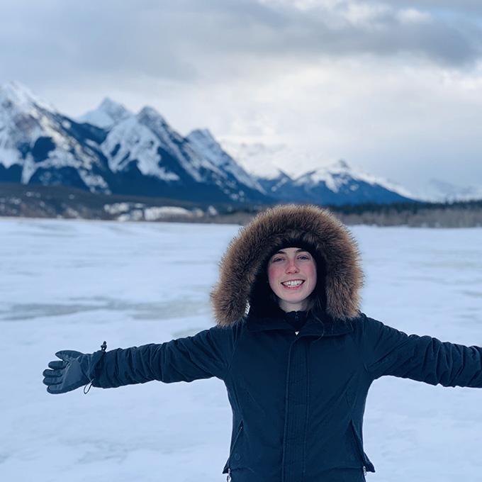 Mikaela in Banff
