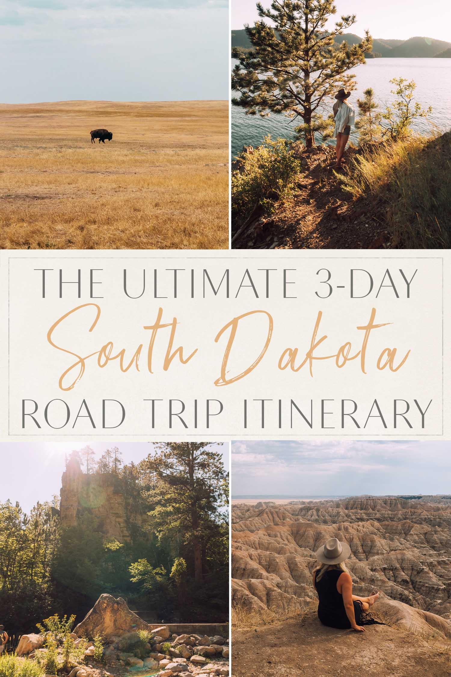 Itinerário de viagem rodoviária de Dakota do Sul