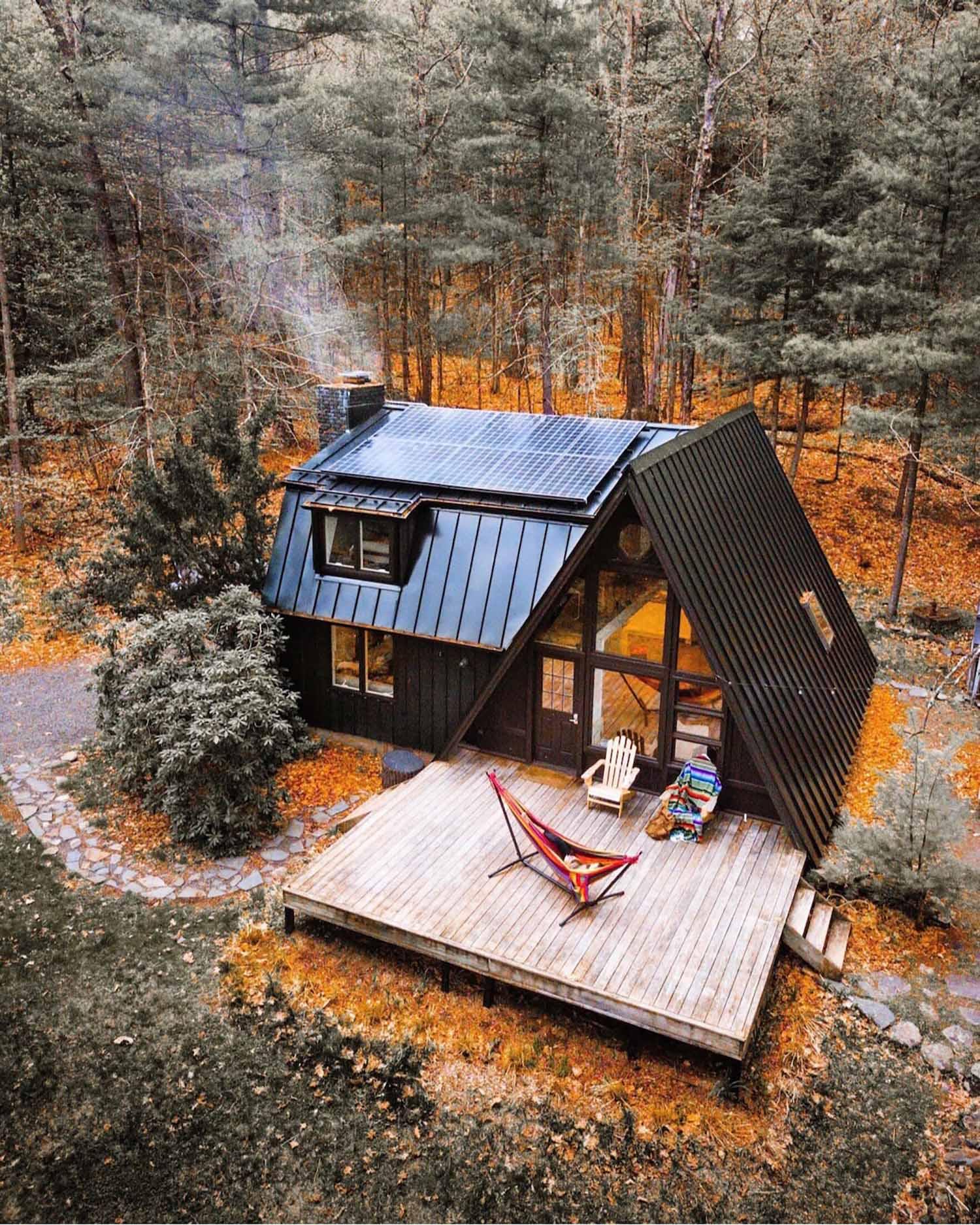 Black A-Frame Catskills Cabin