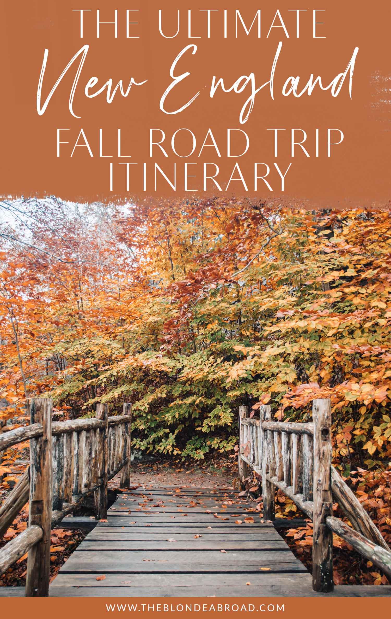 Viagem de outono definitiva para a Nova Inglaterra
