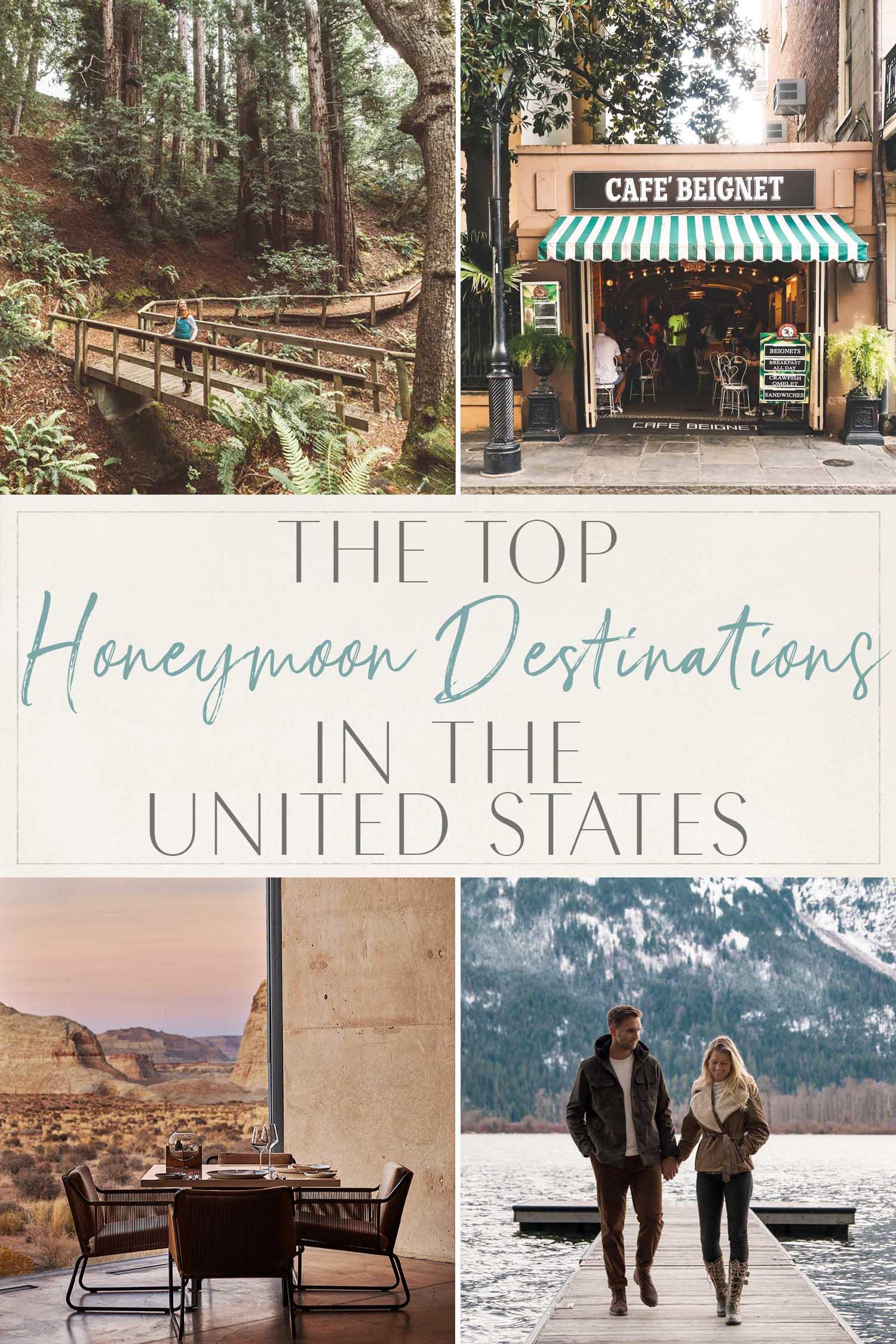 Meilleures destinations de lune de miel aux États-Unis