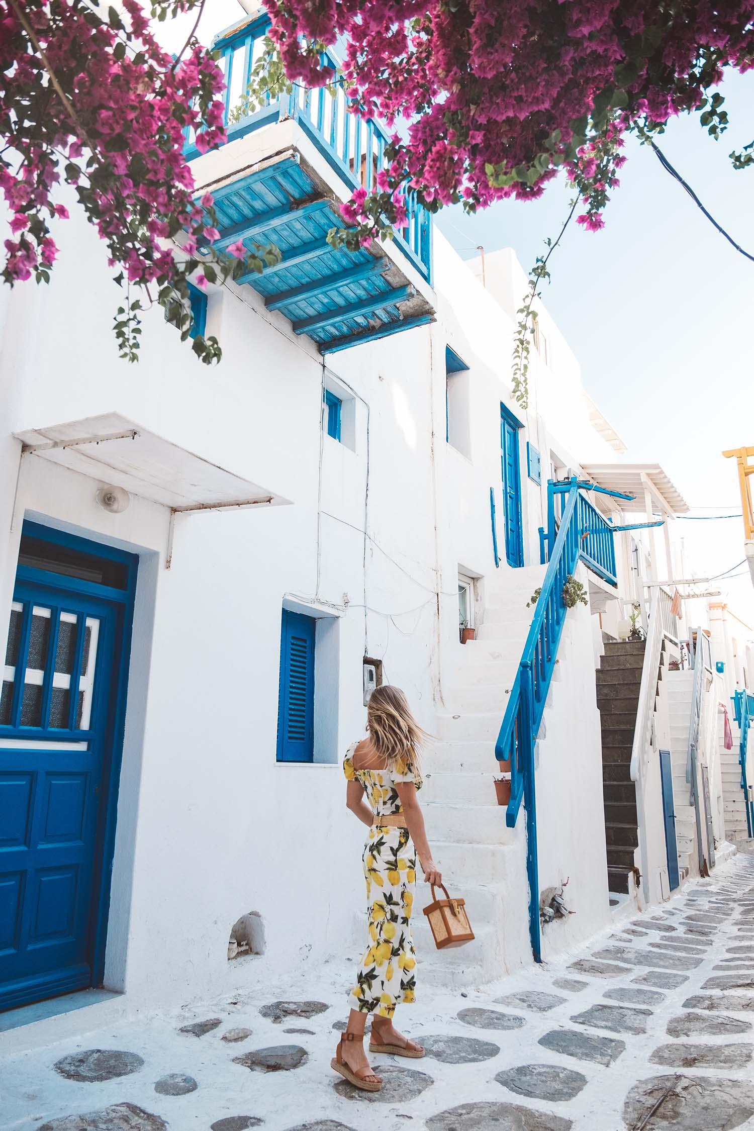 lemon outfit mykonos greece summer
