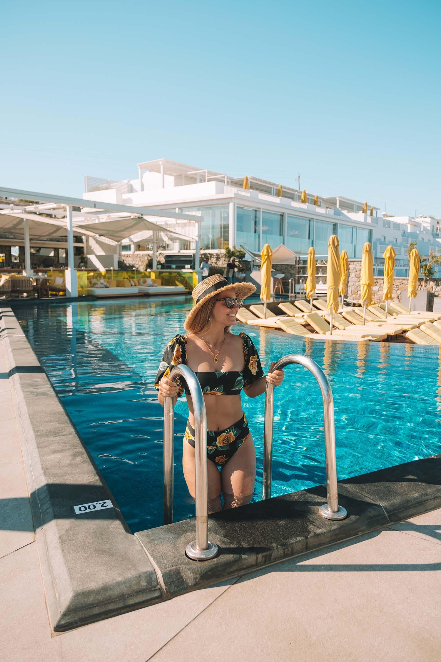 swimsuit santorini greece